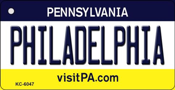 Philadelphia Pennsylvania State License Plate Key Chain KC-6047