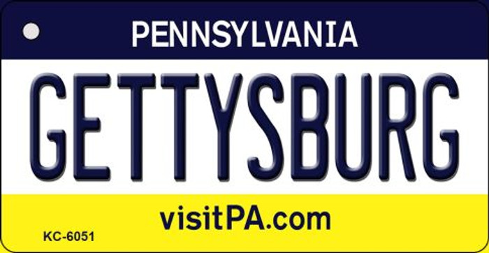 Gettysburg Pennsylvania State License Plate Key Chain KC-6051