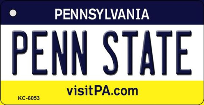 Penn State Pennsylvania State License Plate Key Chain KC-6053