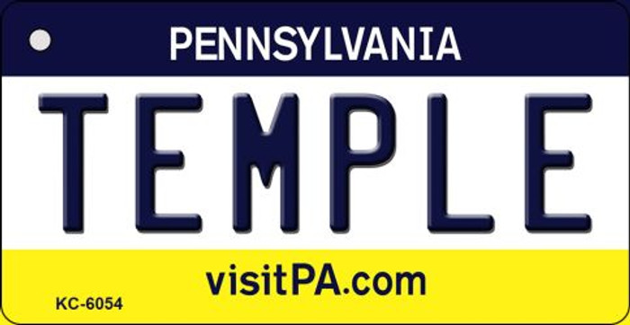 Temple Pennsylvania State License Plate Key Chain KC-6054
