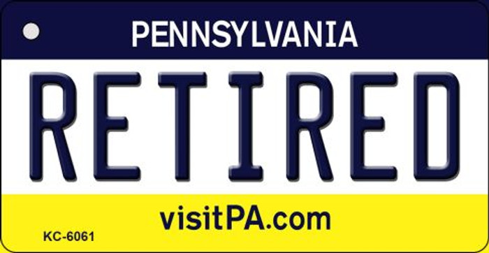 Retired Pennsylvania State License Plate Key Chain KC-6061
