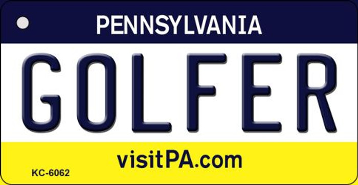 Golfer Pennsylvania State License Plate Key Chain KC-6062