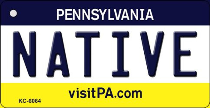 Native Pennsylvania State License Plate Key Chain KC-6064