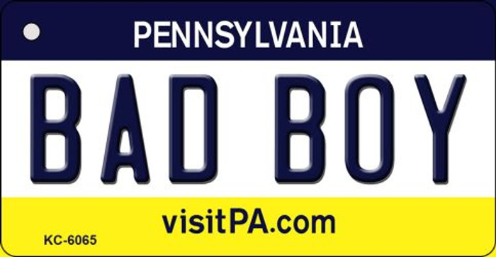 Bad Boy Pennsylvania State License Plate Key Chain KC-6065