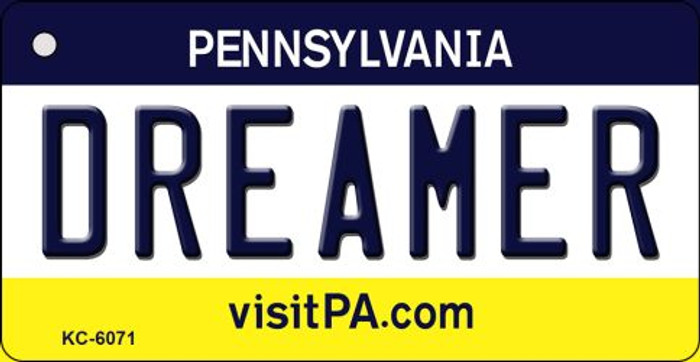 Dreamer Pennsylvania State License Plate Key Chain KC-6071