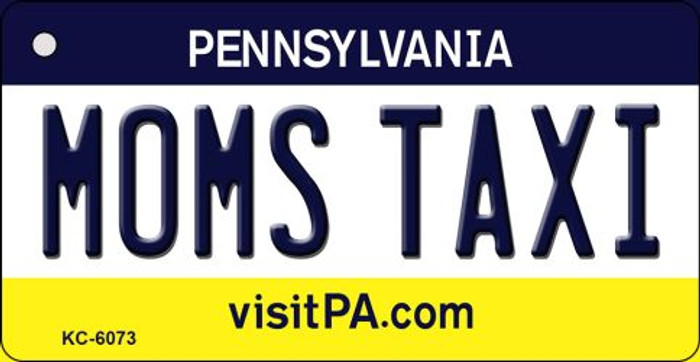 Moms Taxi Pennsylvania State License Plate Key Chain KC-6073