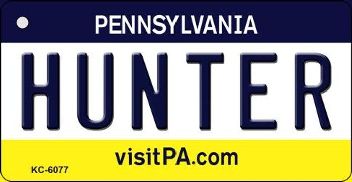Hunter Pennsylvania State License Plate Key Chain KC-6077