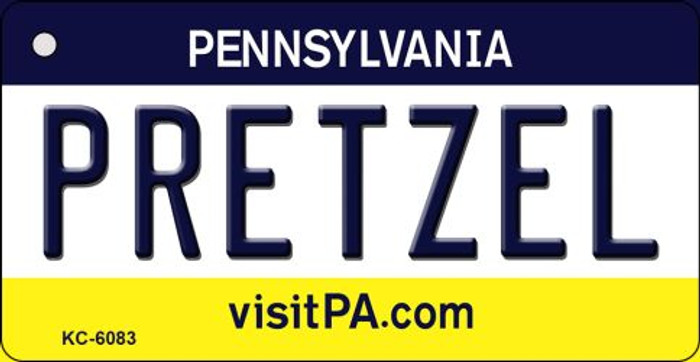 Pretzel Pennsylvania State License Plate Key Chain KC-6083