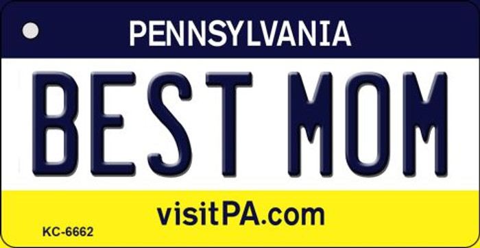 Best Mom Pennsylvania State License Plate Key Chain KC-6662