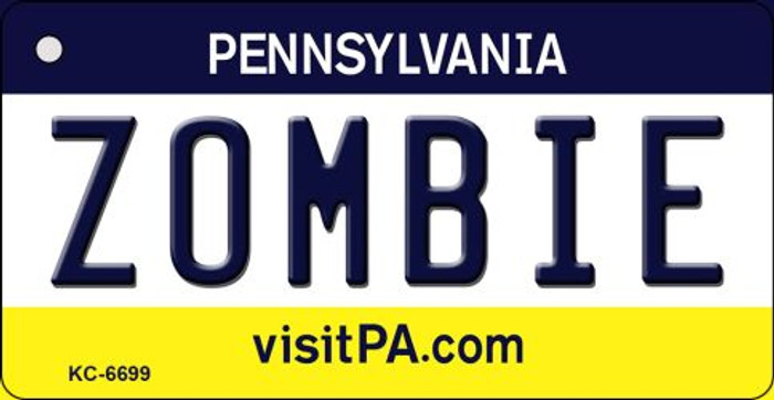 Zombie Pennsylvania State License Plate Key Chain KC-6699