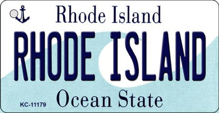 Rhode Island License Plate Novelty Key Chain KC-11179