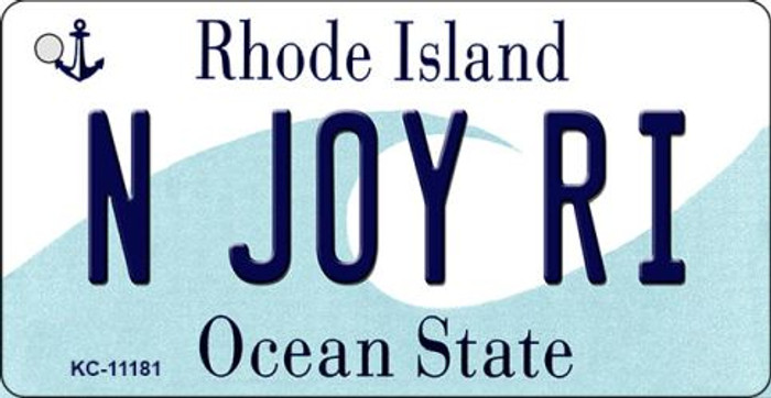 N Joy RI Rhode Island License Plate Novelty Key Chain KC-11181