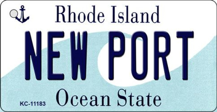 New Port Rhode Island License Plate Novelty Key Chain KC-11183