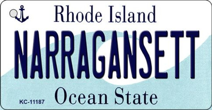Narragansett Rhode Island License Plate Novelty Key Chain KC-11187