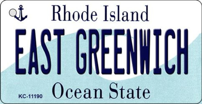 East Greenwich Rhode Island License Plate Novelty Key Chain KC-11190