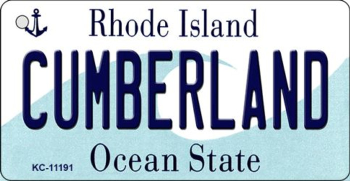 Cumberland Rhode Island License Plate Novelty Key Chain KC-11191