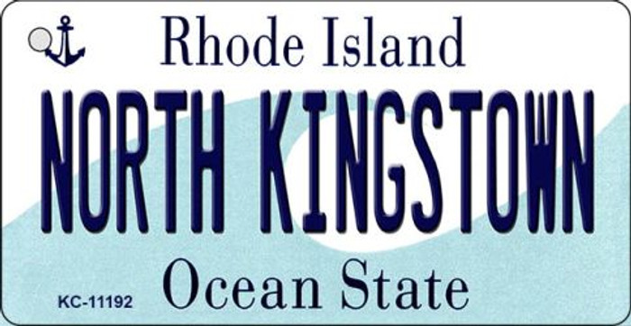 North Kingstown Rhode Island License Plate Novelty Key Chain KC-11192
