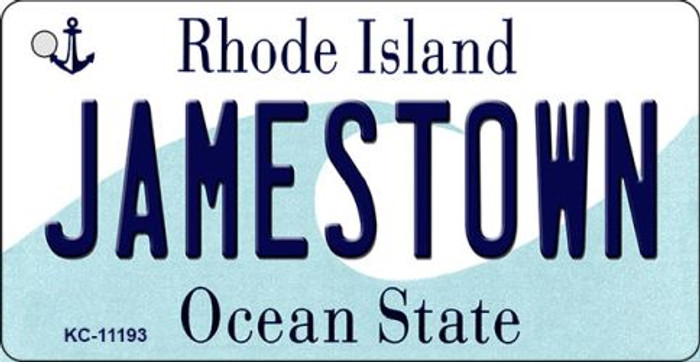 Jamestown Rhode Island License Plate Novelty Key Chain KC-11193