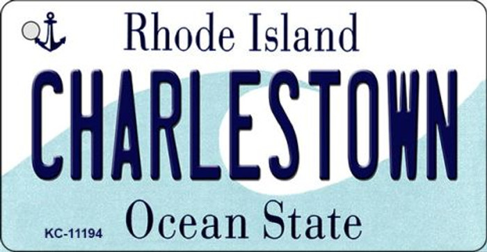 Charlestown Rhode Island License Plate Novelty Key Chain KC-11194