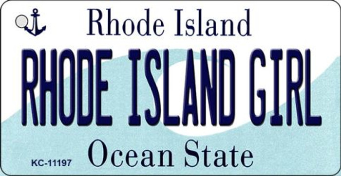 Rhode Island Girl Rhode Island License Plate Novelty Key Chain KC-11197
