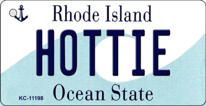 Hottie Rhode Island License Plate Novelty Key Chain KC-11198