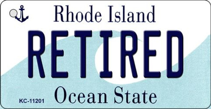 Retired Rhode Island License Plate Novelty Key Chain KC-11201