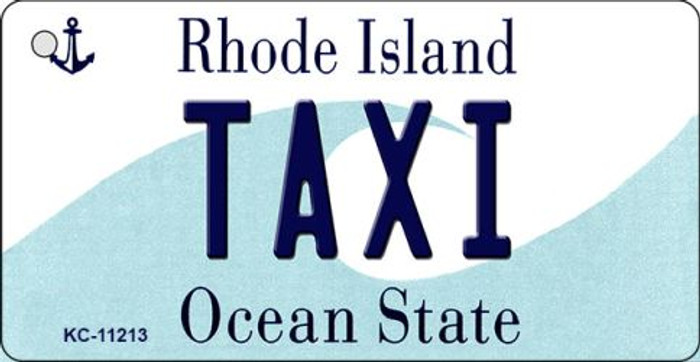 Taxi Rhode Island License Plate Novelty Key Chain KC-11213