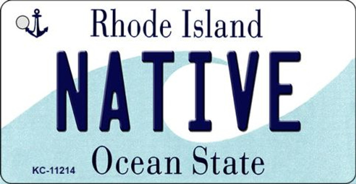Native Rhode Island License Plate Novelty Key Chain KC-11214