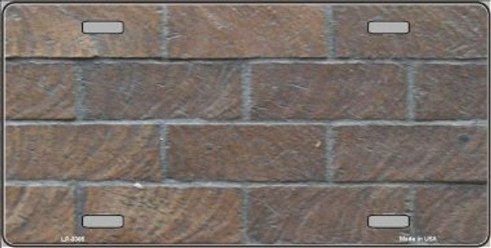 Brick Wall Background Metal Novelty License Plate LP-3365