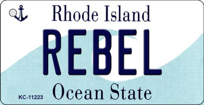Rebel Rhode Island License Plate Novelty Key Chain KC-11223