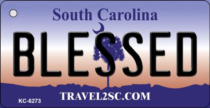 Blessed South Carolina License Plate Key Chain KC-6273