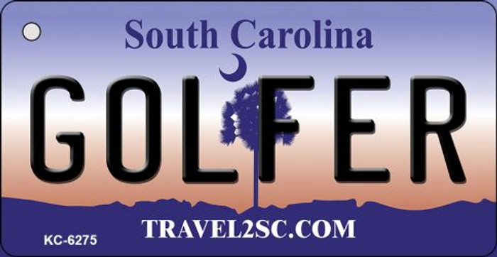 Golfer South Carolina License Plate Key Chain KC-6275