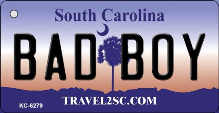 Bad Boy South Carolina License Plate Key Chain KC-6279