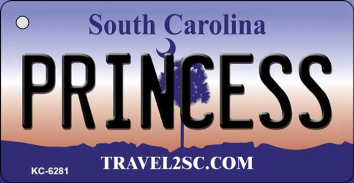 Princess South Carolina License Plate Key Chain KC-6281