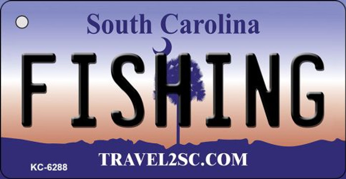Fishing South Carolina License Plate Key Chain KC-6288