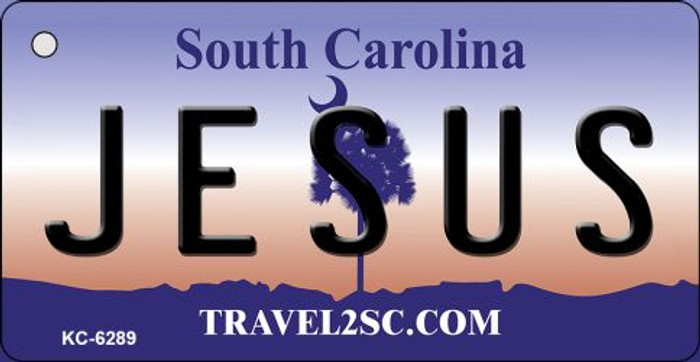 Jesus South Carolina License Plate Key Chain KC-6289