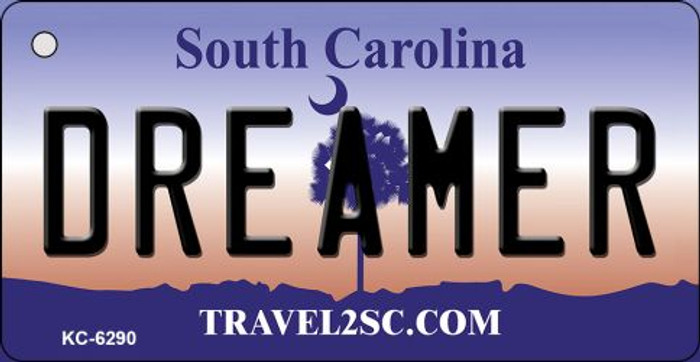 Dreamer South Carolina License Plate Key Chain KC-6290