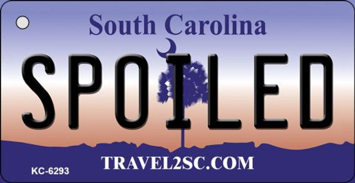 Spoiled South Carolina License Plate Key Chain KC-6293