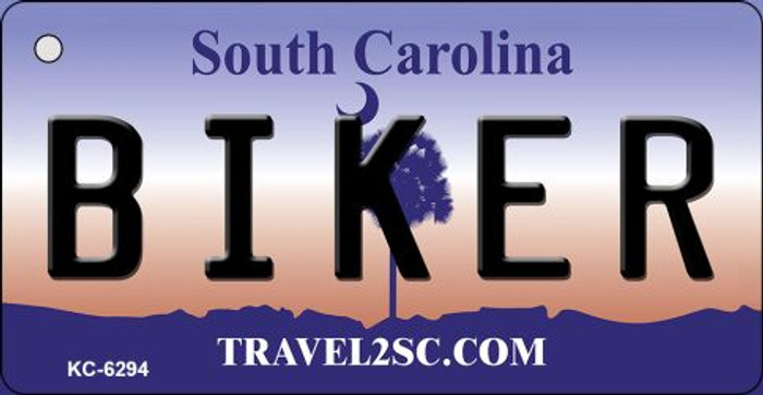 Biker South Carolina License Plate Key Chain KC-6294