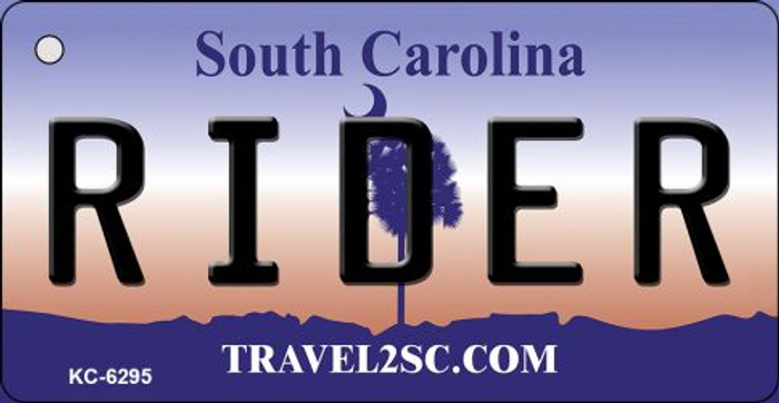 Rider South Carolina License Plate Key Chain KC-6295