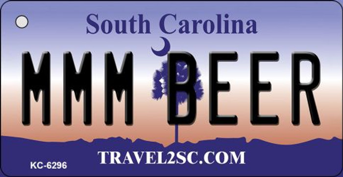 MMM Beer South Carolina License Plate Key Chain KC-6296