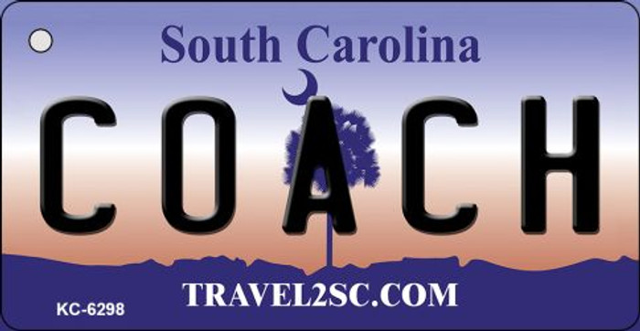 Coach South Carolina License Plate Key Chain KC-6298
