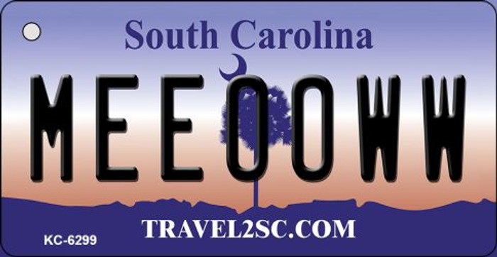 Meeooww South Carolina License Plate Key Chain KC-6299