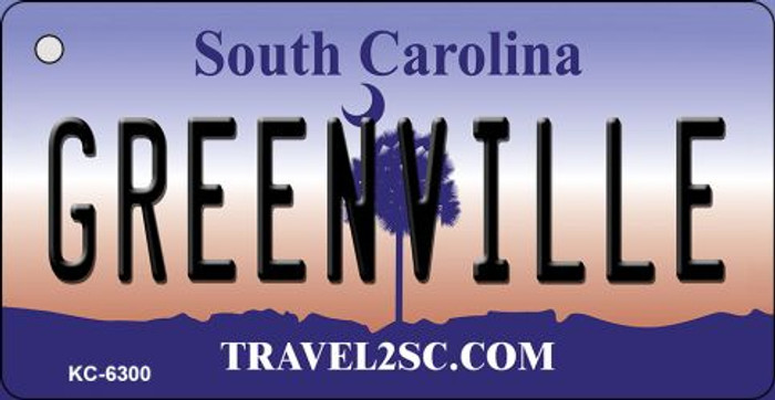 Greenville South Carolina License Plate Key Chain KC-6300