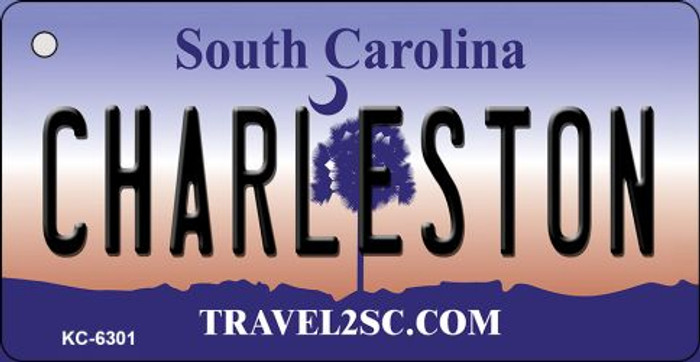 Charlestown South Carolina License Plate Key Chain KC-6301