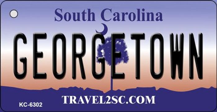 Georgetown South Carolina License Plate Key Chain KC-6302