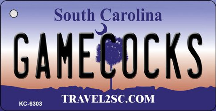 Gamecocks South Carolina License Plate Key Chain KC-6303