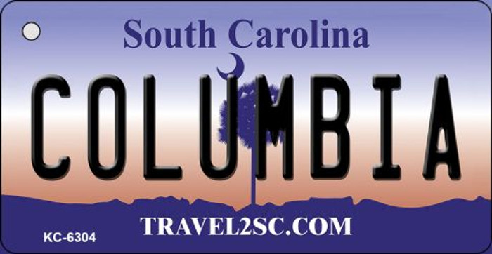 Columbia South Carolina License Plate Key Chain KC-6304
