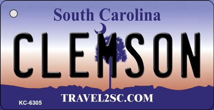 Clemson South Carolina License Plate Key Chain KC-6305