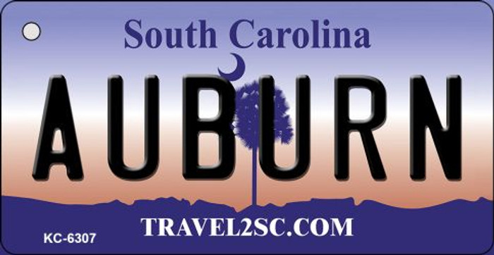 Auburn South Carolina License Plate Key Chain KC-6307